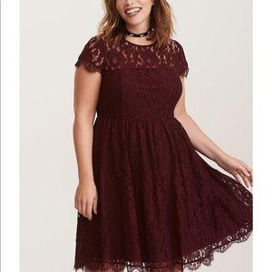 Dresses & Skirts - Torrid 16W lace open back skater dress